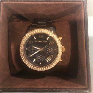 Michael Kors Ceramic Gunmetal Watch